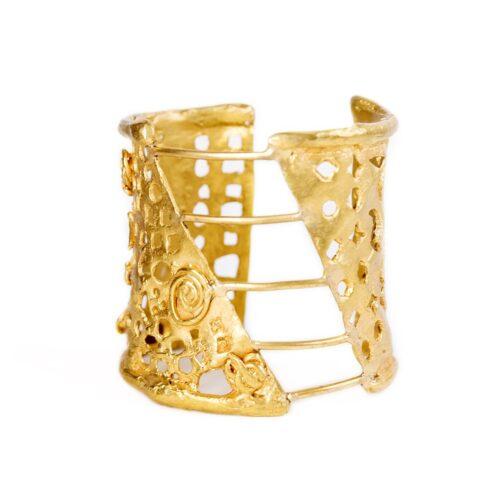 Christian Lacroix Gold Cuff Bracelet
