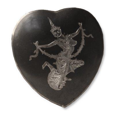 1930s Siam Sterling Silver Heart Brooch
