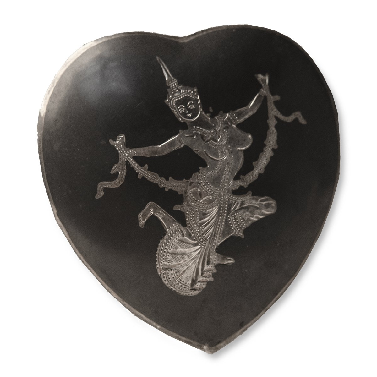 1930s Siam Sterling Silver Heart Brooch