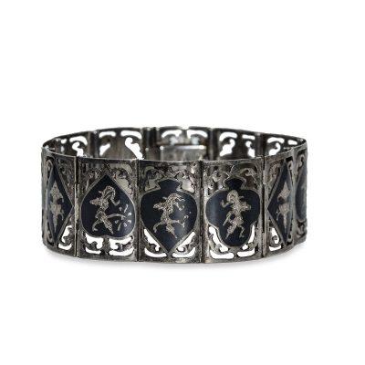1950s Siam Sterling Silver Link Bracelet