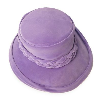 Vintage 1950s Capeline Hat, Light Purple - Lavender Velvet