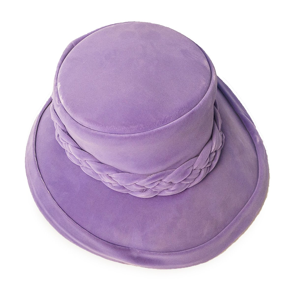 Vintage 1950s Capeline Hat, Light Purple - Lavender Velvet