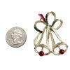 Christmas bell brooch