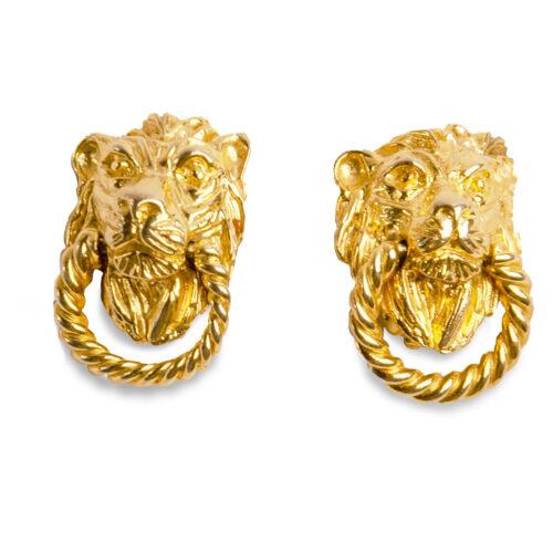 lion earrings