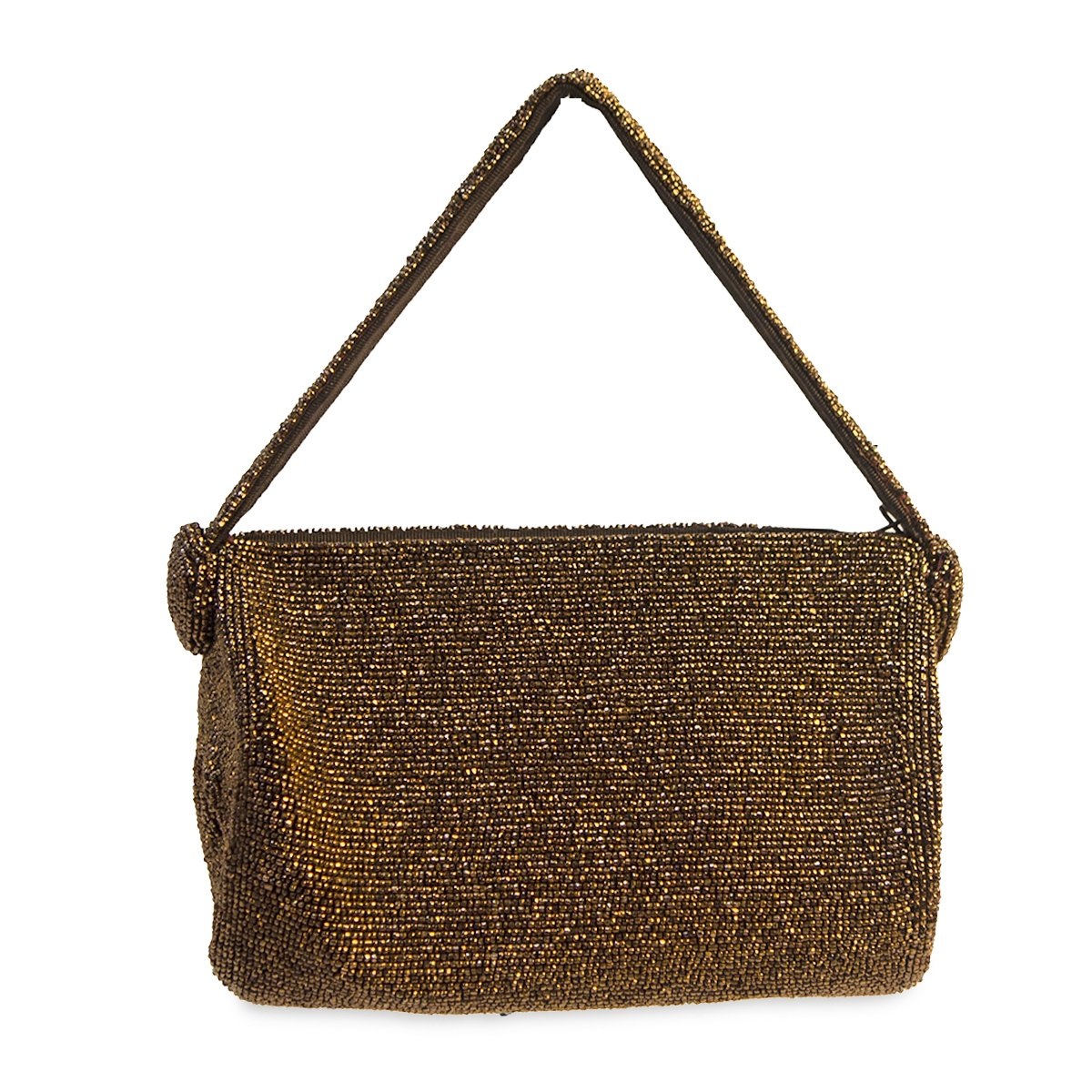 1940s Copper Beaded Evening Bag