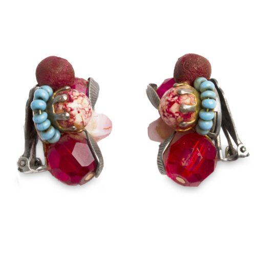 1950s Hattie Carnegie Beaded Earrings