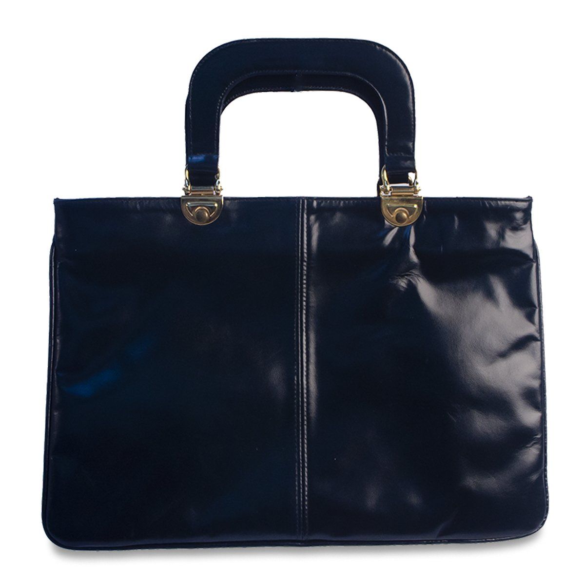 Vintage Navy Handbag, Made in Italy