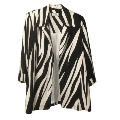 Yolanda Lorente Hand-painted Silk Jacket, Zebra Print