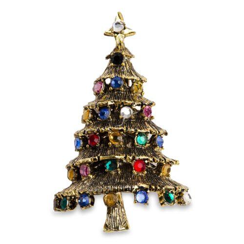 Vintage 1950s Hollycraft Christmas Tree Pin - Brooch