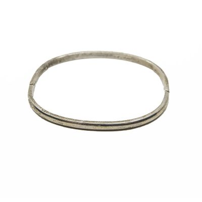 Taxco Sterling Silver Bangle Bracelet, Mexico, 925