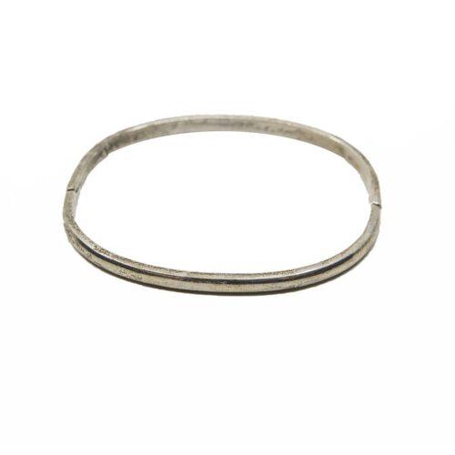 Taxco Sterling Silver Bangle Bracelet, Mexico, 925