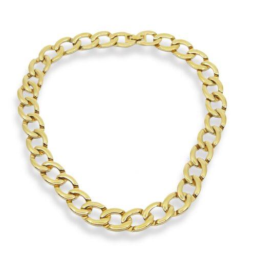 Vintage Monet Gold Link Necklace