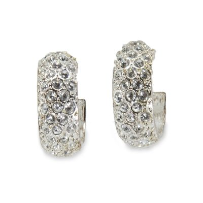 Ralph Lauren Vintage Crystal Hoop Earrings