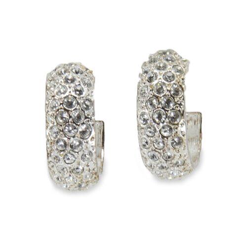 Ralph Lauren Vintage Crystal Hoop Earrings