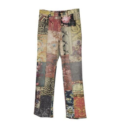 Vintage 90s Roberto Cavalli Patchwork Jeans
