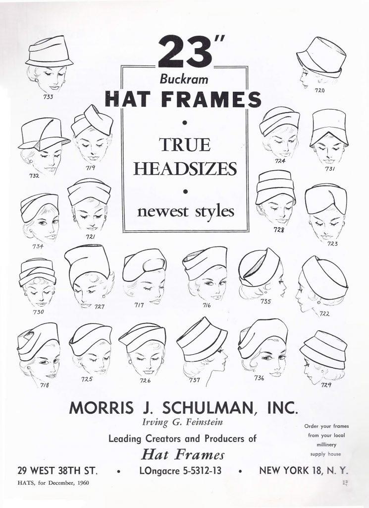 1960s Hat Styles