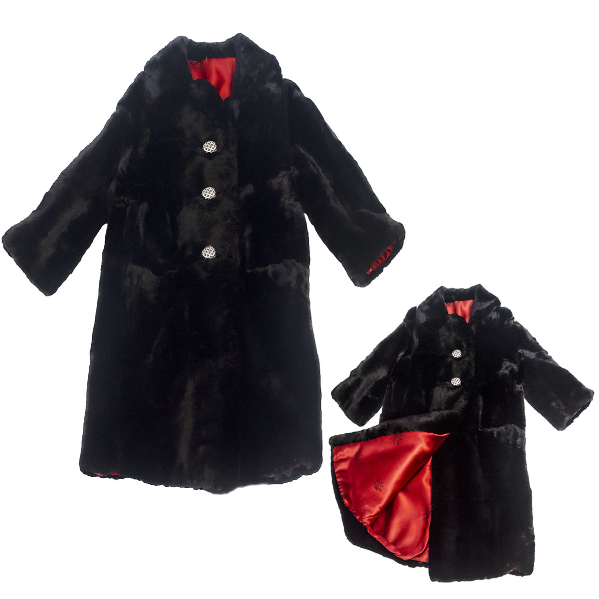 Black rabbit coat IG