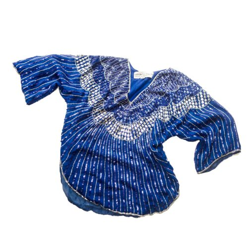 Blue sequin top by Judith Ann Creations