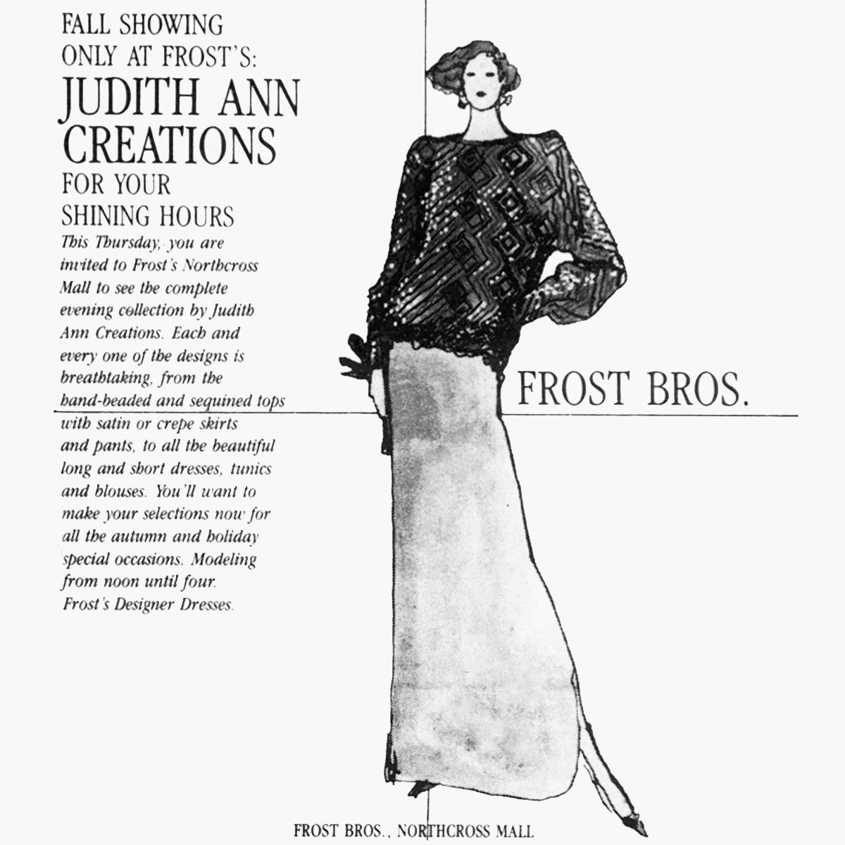 Judith Ann Creations Ad 1983