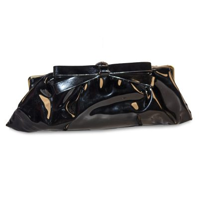 VIntage 50s Black Patent Leather Clutch