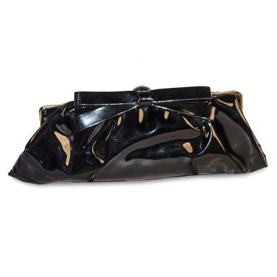 VIntage 50s Black Patent Leather Clutch