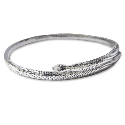 Whiting & Davis Silver Snake Belt