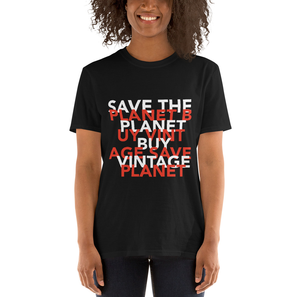 Save the planet vintage t