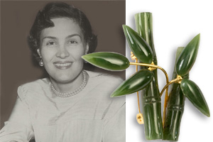 Lucky bamboo brooch