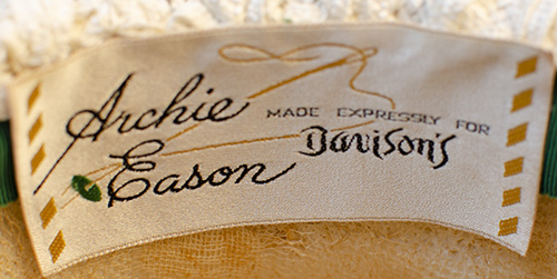 Archie Eason Green Sequin label