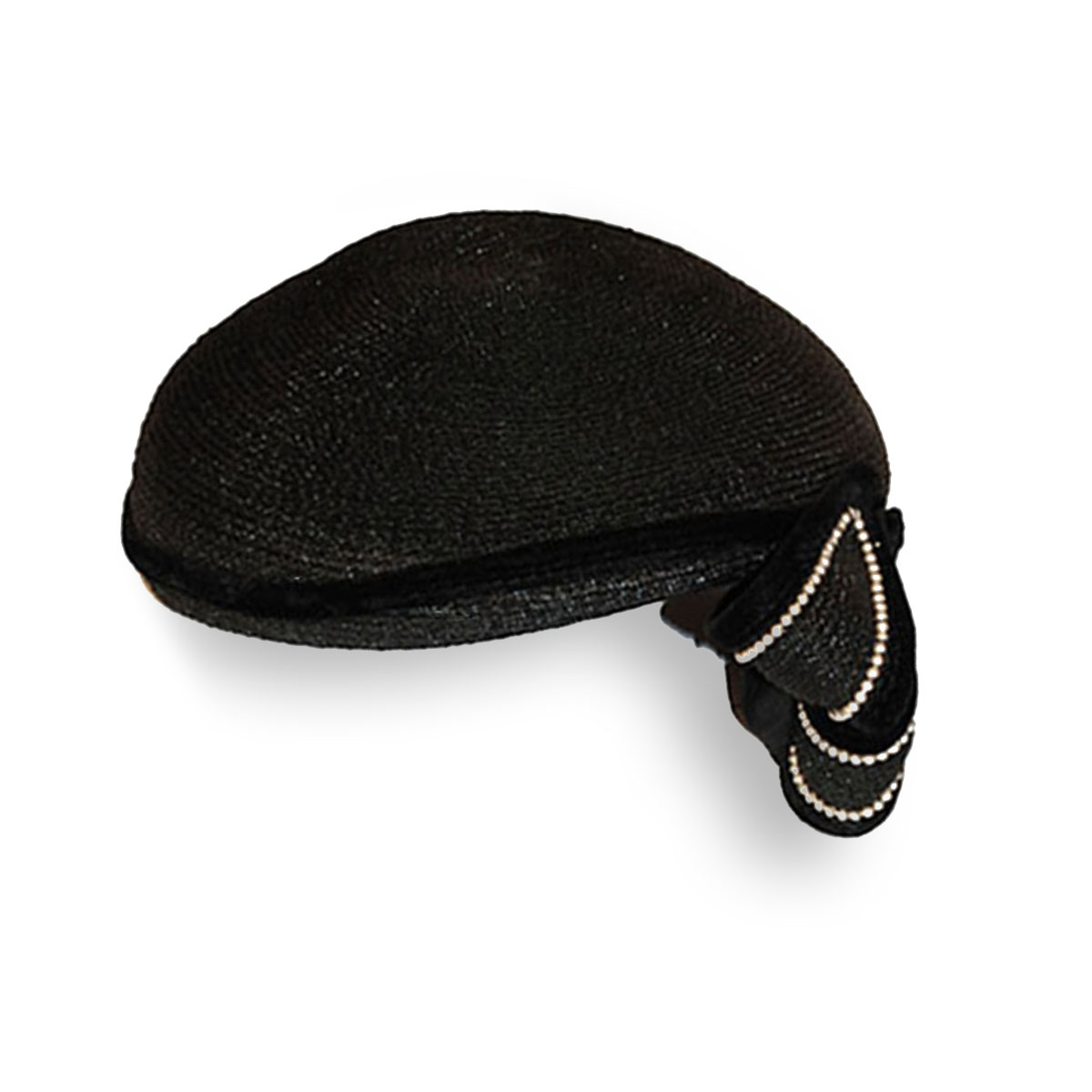 Black Cocktail Hat, Pearls