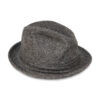 gray trilby hat