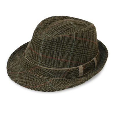 Green Plaid Trilby