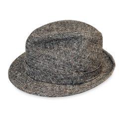 Stetson trilby, black tweed