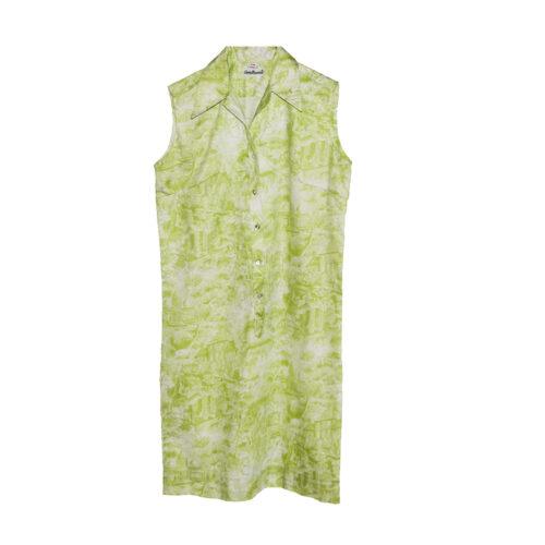 green toile dress