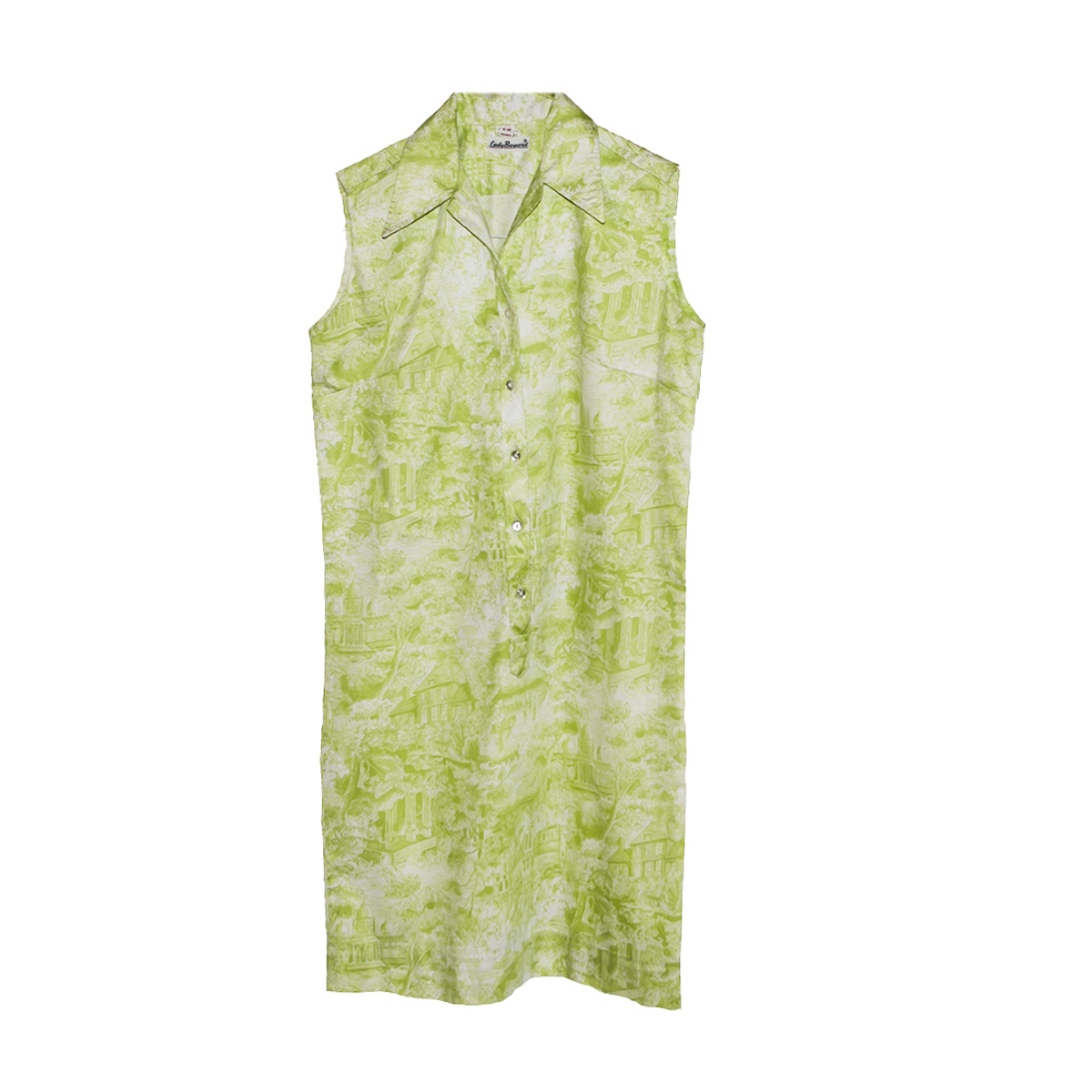 green toile dress