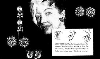 Story of Judith McCann & wingback earrings