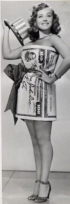 Paulette Goddard fourth of July