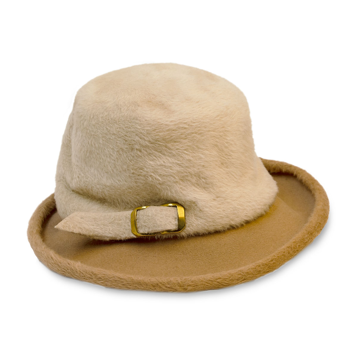 Angels Designs Tan & Cream Fedora copy