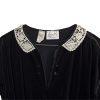 Leslie Fay Dress, lace peter pan collar