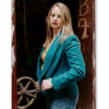 womens pendleton blazer, teal wool