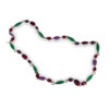 YSL necklace, Multicolor glass beads