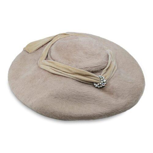 vintage platter hat