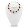 Frosted Glass & Galalith Bead Necklace