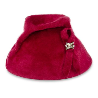 red cocktail hat