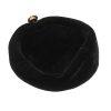 vintage black velvet beret