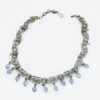 vintage coro necklace, blue beads