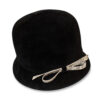 black cloche hat