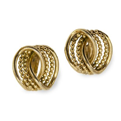 Vintage bergere clip earrings