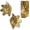 gold vintage seashell earrigns
