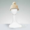 winter cable knit cap with brim